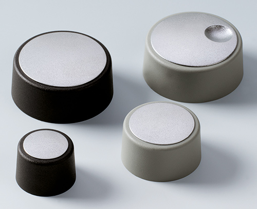 COM-KNOBS now with a highly attractive metallic silver covers