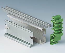 From left TH35, G32 and TH15 DIN rails