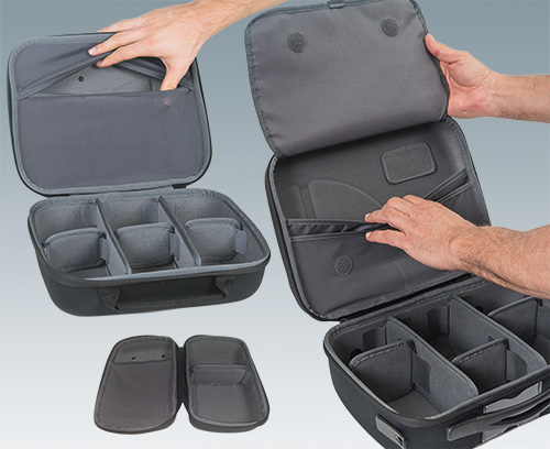 Integrated compartments for assembly instructions, documents etc.