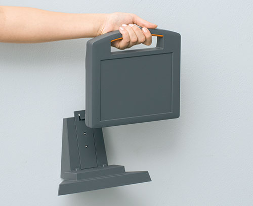 Station for wall suspension element (accessory)