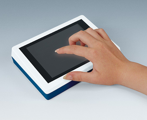 Desk case with touchscreen and individual colours