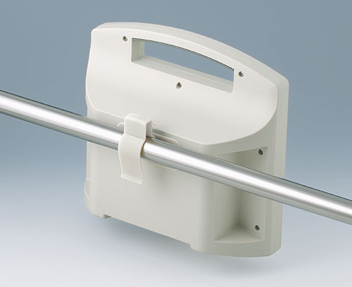 Holding clamp for round tubes