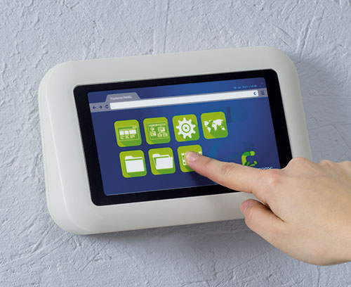EVOTEC wall mounted enclosure with touchscreen