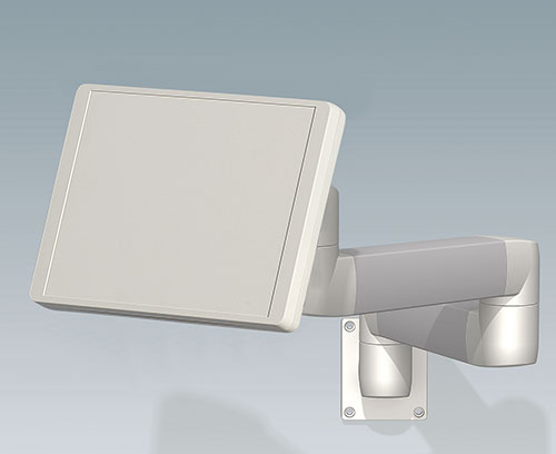 INTERFACE-TERMINAL enclosures for suspension arm systems