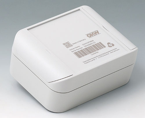 SMART-BOX made of ASA+PC-FR (UL 94 V-0), light grey with laser marking