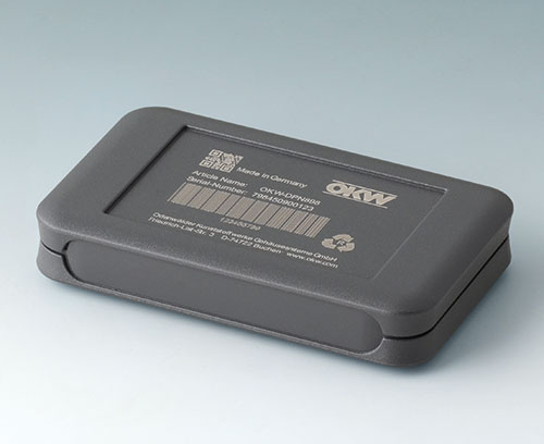SOFT-CASE made of ABS (UL 94 HB), lava with laser marking