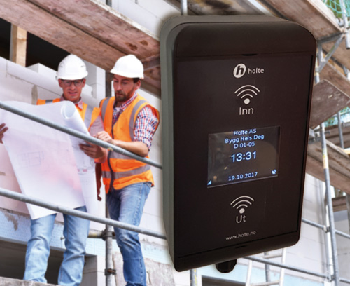 RFID card reader for construction site workers