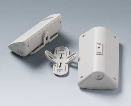 Enclosures with adapter and wall suspension element (accessories)