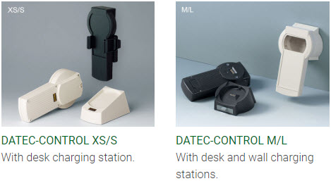 Handheld enclosures with desk/wall stations