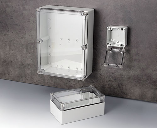 IN-BOX IP 67 / IP 68 polycarbonate enclosures with transparent lid